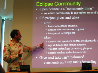 "Erich Gamma speaks at the May 22, 2003 ""Eclipse Code Camp"" in Brussels"