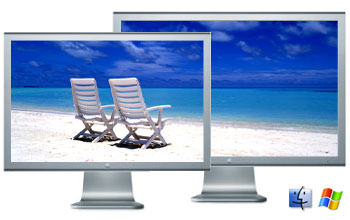 Beach on screen