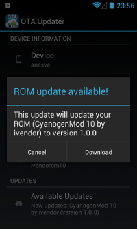CM OTA Updater - Update detected