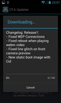 CM OTA Updater - Downloading...