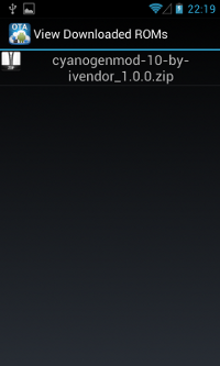 CM OTA Updater - View the downloaded ROM(s)
