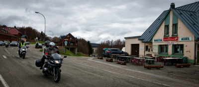 On the road at Le Markstein (France)