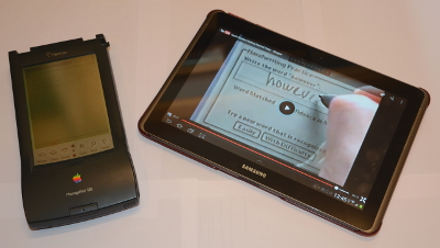Apple Newton 130 and Samsung Galaxy Tab 2 10.1