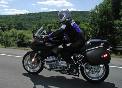 "Kurt Ernst, ""Touring on my old R1100S, somewhere in New York state"""