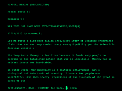 My blog as if in 1992