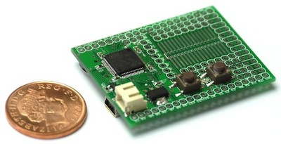 An EspruinoBoard is small and cheap