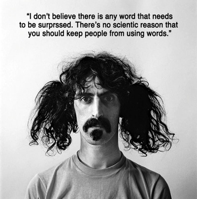 Frank Zappa on Censorship (from http://sobadsogood.com/)