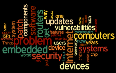 Word cloud based on Bruce Schneier's opinion of TIoT