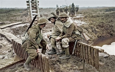 British soldiers at Passchendaele, 1917.  Photo: BBC/PEN AND SWORD