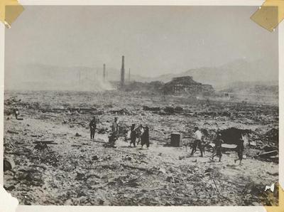 Nagasaki, August 10th, 1945. Image credits: Photograph via Bonhams Auction House