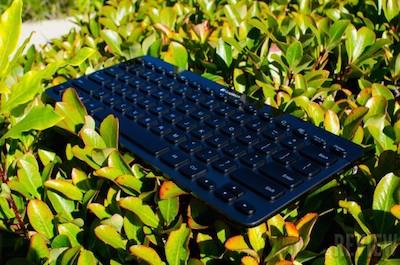 The Logitech K810 BT Keyboard