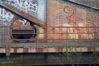 Railroad Bridge Graffiti (Mechelen, Belgium)