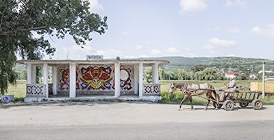"""One of the pictures from the book """"Soviet Bus Stops""""..."""