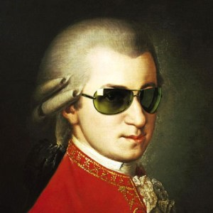 Mozart is clearly at home in these modern times ;-)