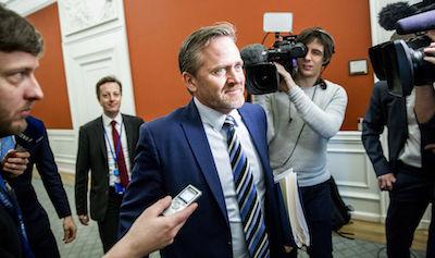 Foreign Minister Anders Samuelsen. Photo: Nikolai Linares/Scanpix
