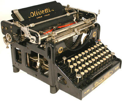 The Olivetti M20 (from 1920) Picture from http://www.typewriter.be