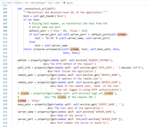 Image of the Python code for the function '_reconstruct_url'